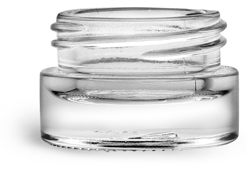 Clear Glass Jars, 5 ml Glass Cosmetic Jars, (Bulk) Caps Not Included