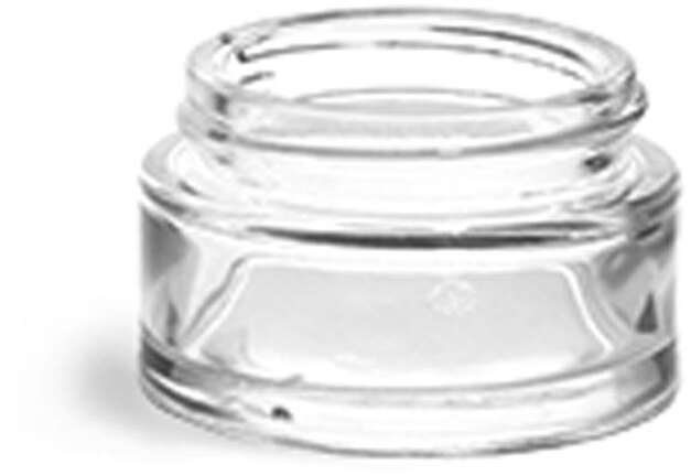 Clear Glass Thick Wall Cosmetic Jar