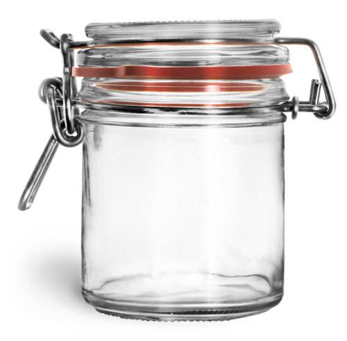 125 ml Glass Jars, Clear Glass Wire Bale Jars