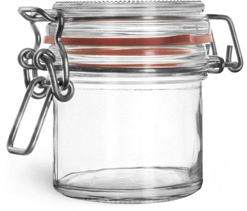 Glass Jars, Clear Glass Wire Bale Jars