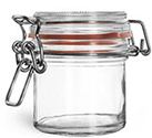 167 ml167 ml Glass Jars, Clear Glass Wire Bale Jars