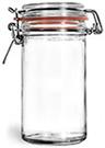 277 ml277 ml Glass Jars, Clear Glass Wire Bale Jars