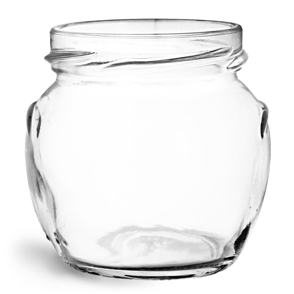106 ml Glass Jars, Clear Glass Honey Pot Jars (Bulk), Caps NOT Included