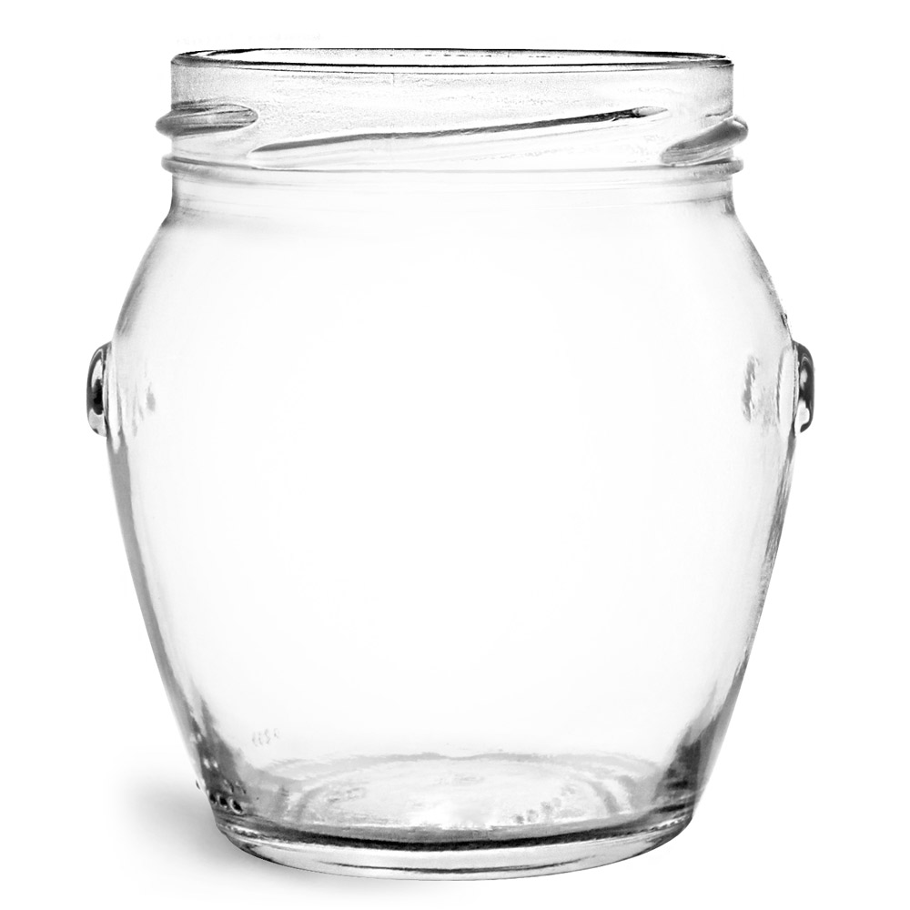 212 ml Glass Jars, Clear Glass Honey Pot Jars (Bulk), Caps NOT Included