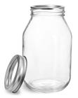 32 oz32 oz Glass Jars, Clear Glass Mayo/Economy Jars w/ Silver Two Piece Canning Lids