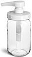 8 oz8 oz Glass Jars, Clear Glass Mayo/Economy Jars w/ White PP Pumps