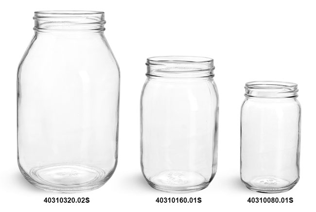 Glass Jars, Clear Glass Mayo/ Economy Jars (Bulk), Caps NOT Included