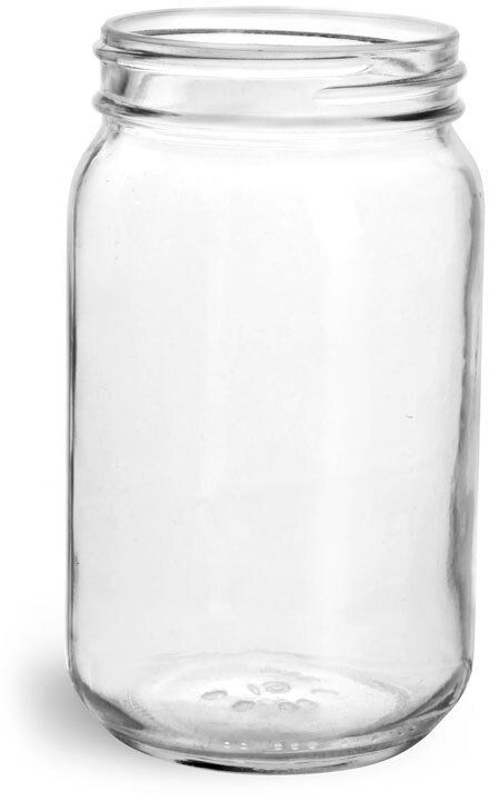 Clear Glass Wide Mouth Economy Jars