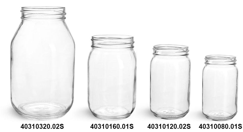 Glass Jars, Clear Glass Mayo/ Economy Jars (Bulk), Caps NOT Included