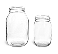 8 oz Clear Glass Wide Mouth Economy Jars