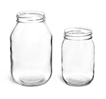 32 oz Clear Glass Mayo/Economy Jars, (Bulk) Caps Not Included