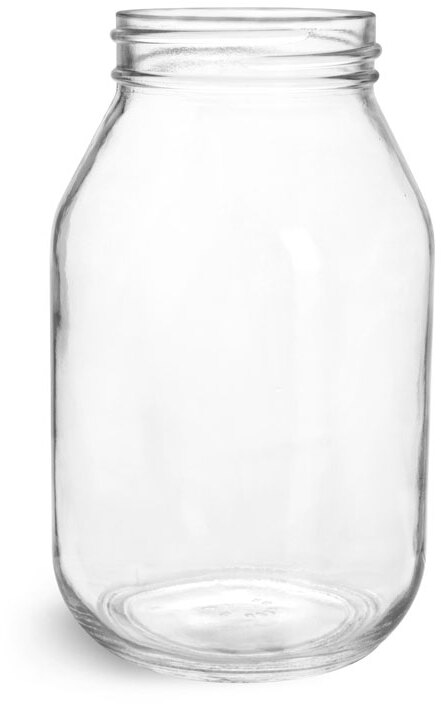 Clear Glass Mayo/Economy Jars, (Bulk) Caps Not Included