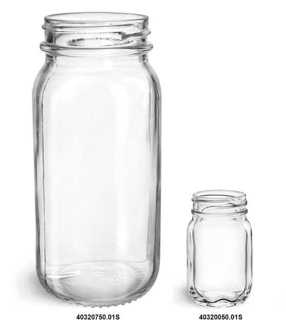 Glass Jars, Clear Glass Mayberry Jars (Bulk)