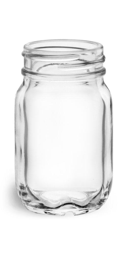 50 ml Glass Jars, Clear Glass Mayberry Jars