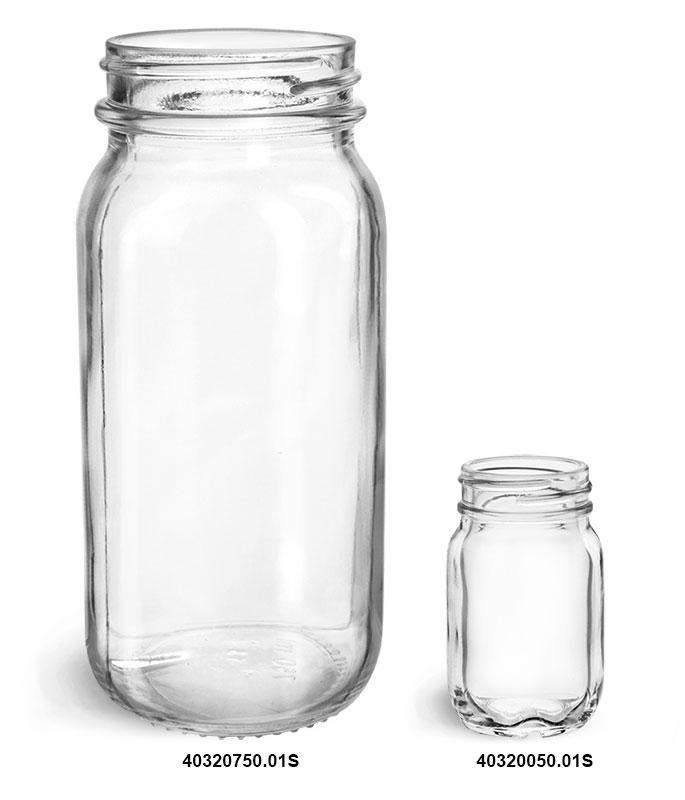 Glass Jars, Clear Glass Mayberry Jars (Bulk)