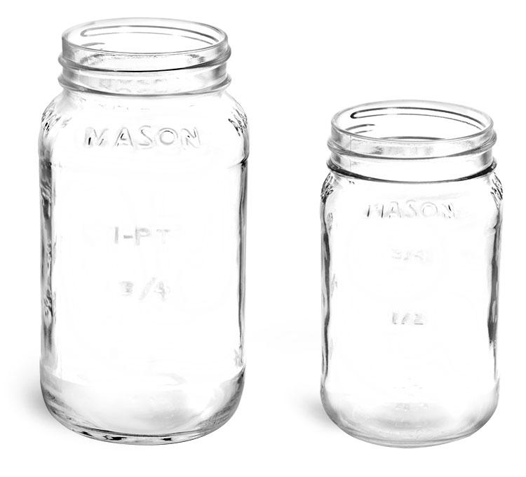 Glass Jars, Clear Glass Mason Jars (Bulk), Caps NOT Included