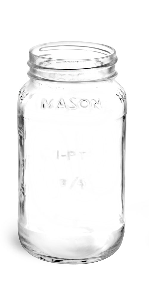 Flint Glass Mason Jars (Bulk), Caps NOT Included