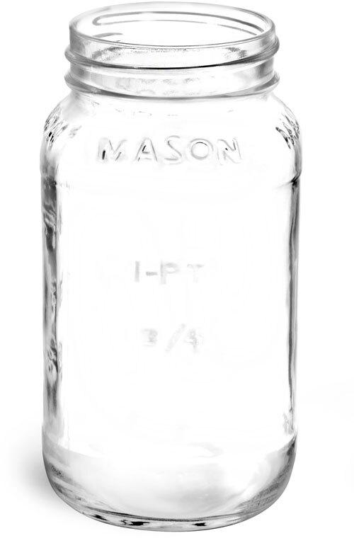 Flint Glass Mason Jars (Bulk), Caps NOT Included