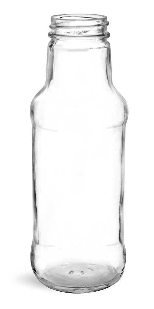 10 oz Clear Glass Beverage Bottles (Bulk), Caps NOT Included