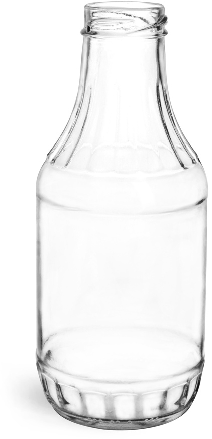 Clear Glass Sauce Bottles (Bulk), Caps NOT Included