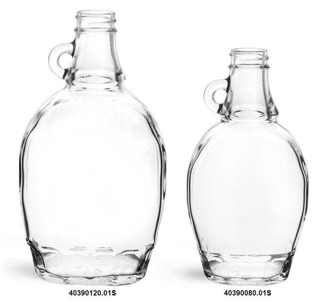 Clear Glass Syrup Bottles (Bulk), Caps NOT Included