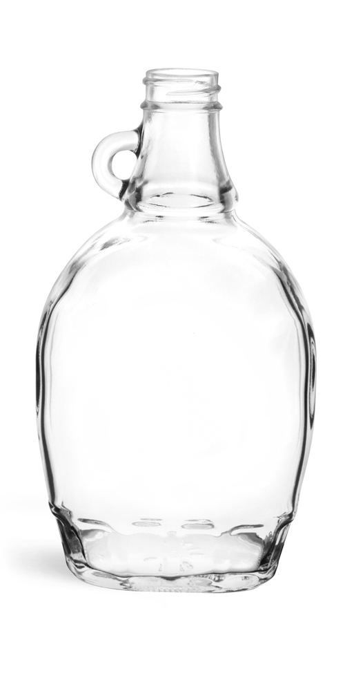 12 oz Clear Glass Syrup Bottles (Bulk), Caps NOT Included