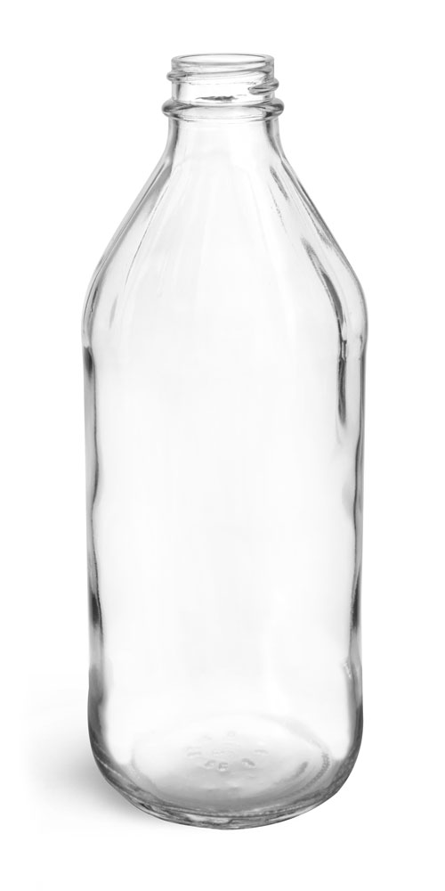 16 oz Clear Glass Vinegar Bottles (Bulk), Caps NOT Included
