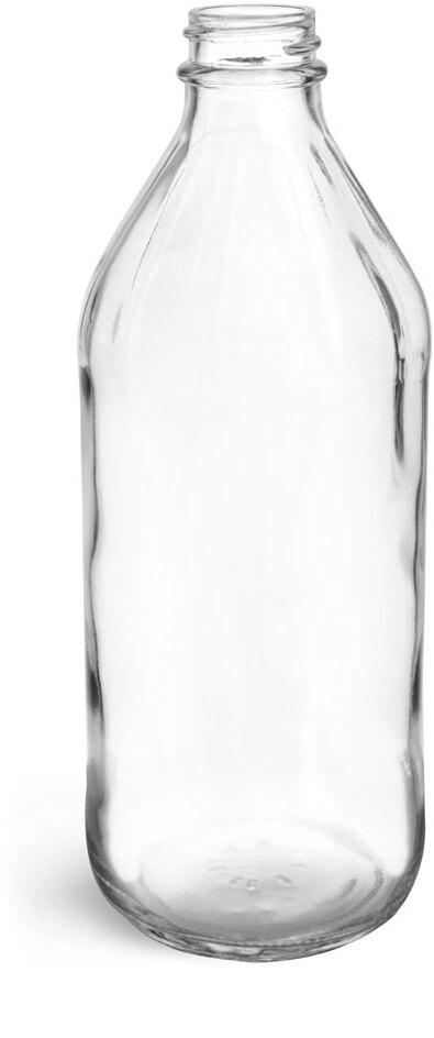 Clear Glass Vinegar Bottles (Bulk), Caps NOT Included