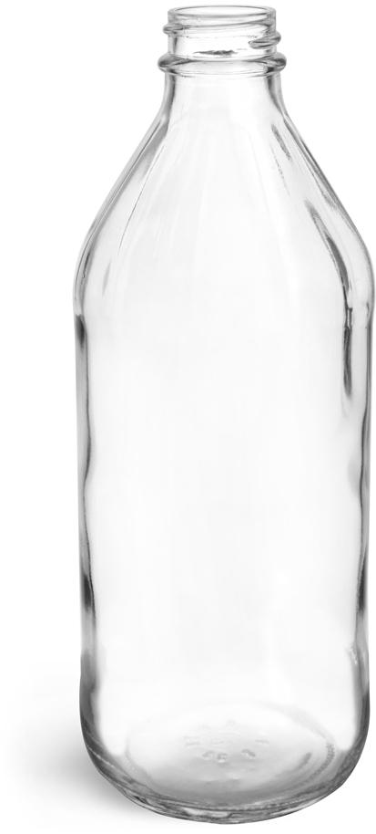 Clear Glass Vinegar Style Bottles (Bulk) Caps Not Included