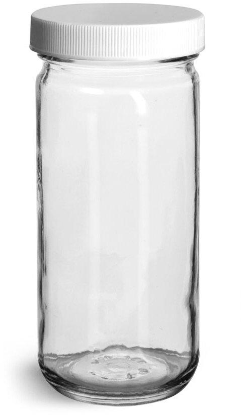 White PP Ribbed Caps