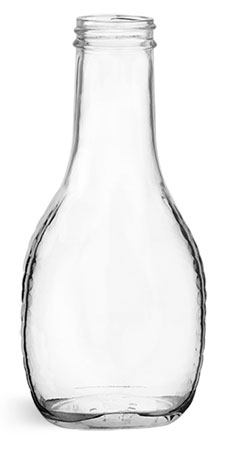 Clear Glass Salad Dressing Bottles (Bulk) Caps NOT Included