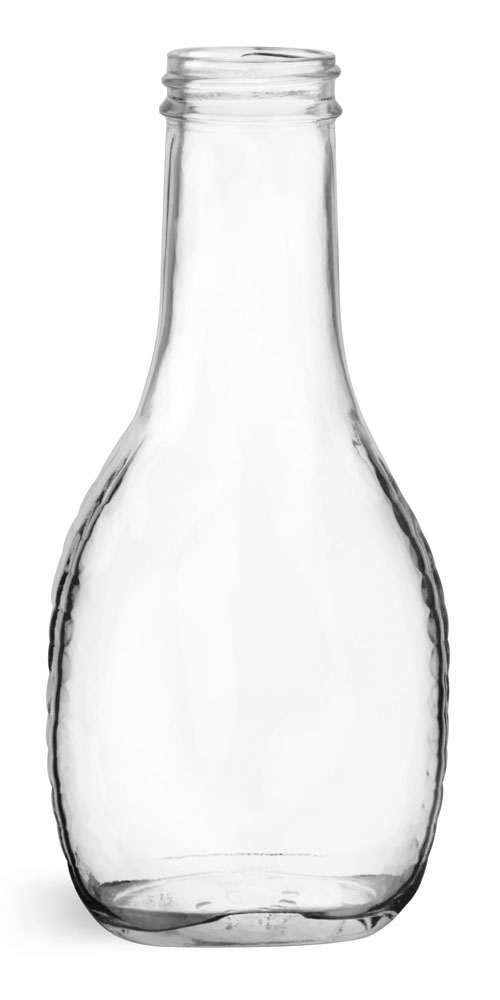 8 oz       Clear Glass Salad Dressing Bottles (Bulk), Caps NOT Included