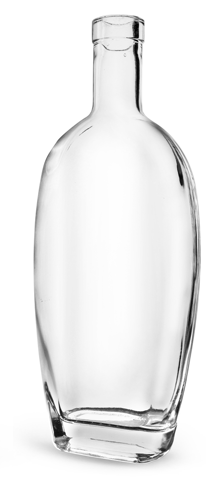 750 ml Clear Glass Westside Bar Top Bottles (Bulk)