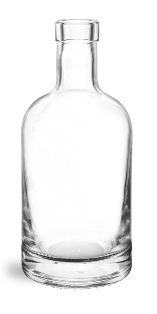 375 ml Glass Bottles, Clear Glass Bar Top Bottles (Bulk) Caps NOT Included