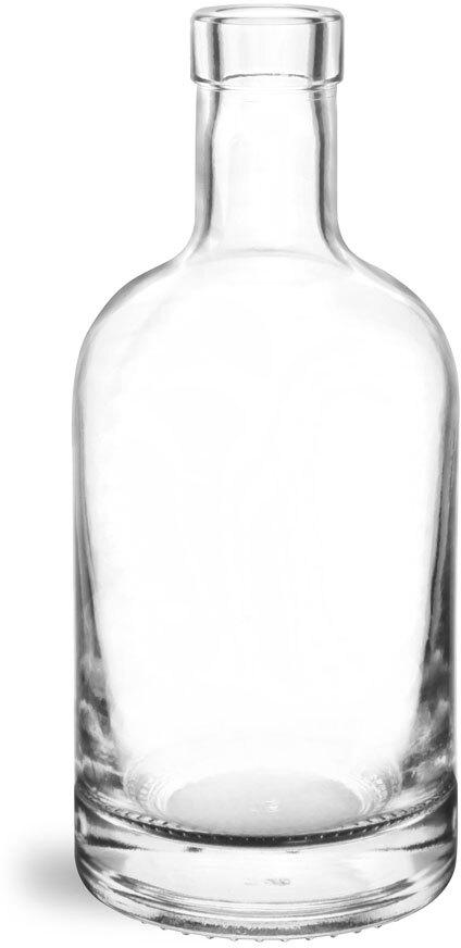 Glass Bottles, Clear Glass Bar Top Bottles (Bulk) Caps NOT Included
