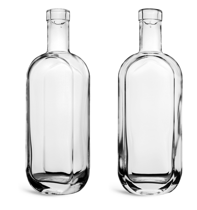 Clear Glass London Bar Top Bottles (Bulk)