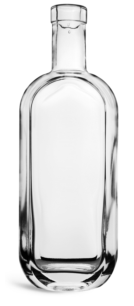 750 ml  Clear Glass London Bar Top Bottles (Bulk)