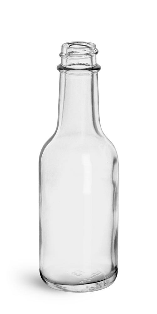 Clear Glass Woozy Bottles (Bulk)