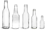 Clear Glass Woozy Bottles (Bulk), Caps NOT Included