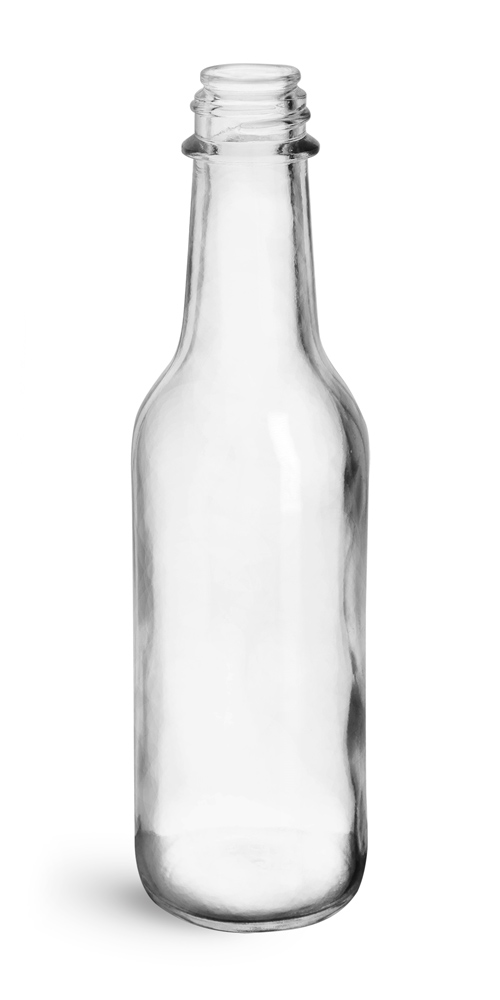 5 oz Clear Glass Woozy Bottles