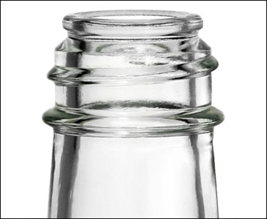 5 oz Clear Glass Woozy Bottle