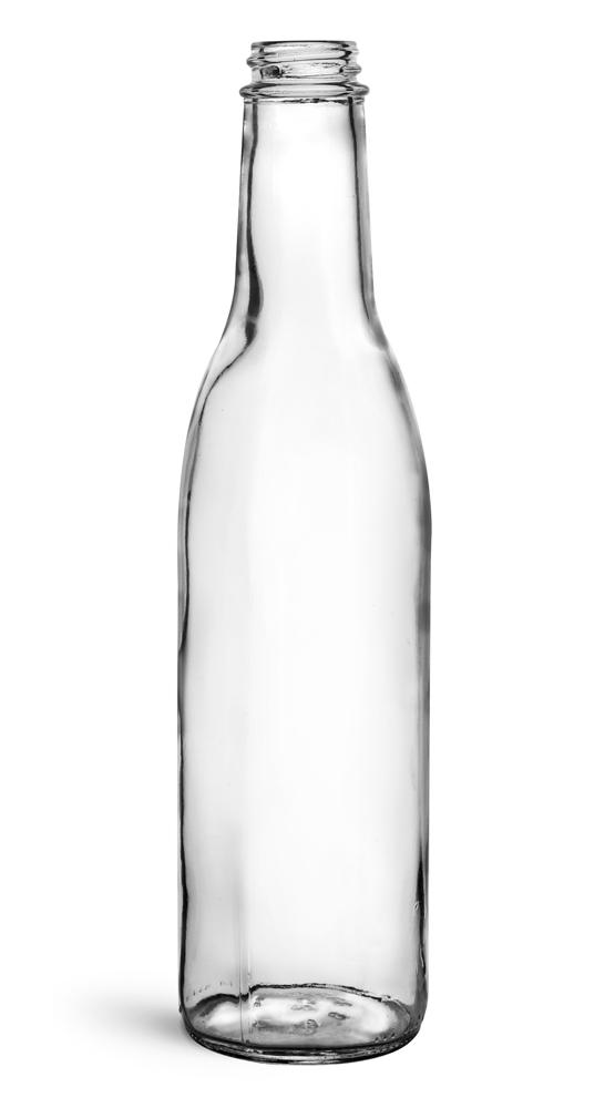 12 oz Clear Glass Woozy Bottles (Bulk), Caps NOT Included
