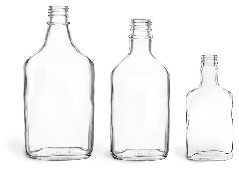 100 ml Clear Glass Flask Bottles