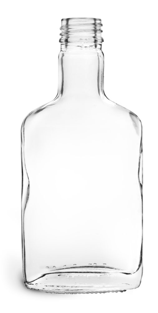 Clear Glass Flask Bottles