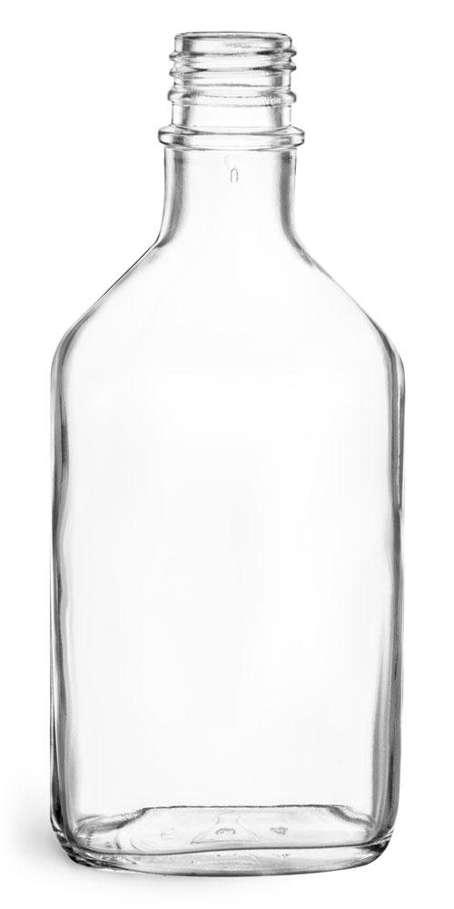 200 ml Clear Glass Flask Bottles