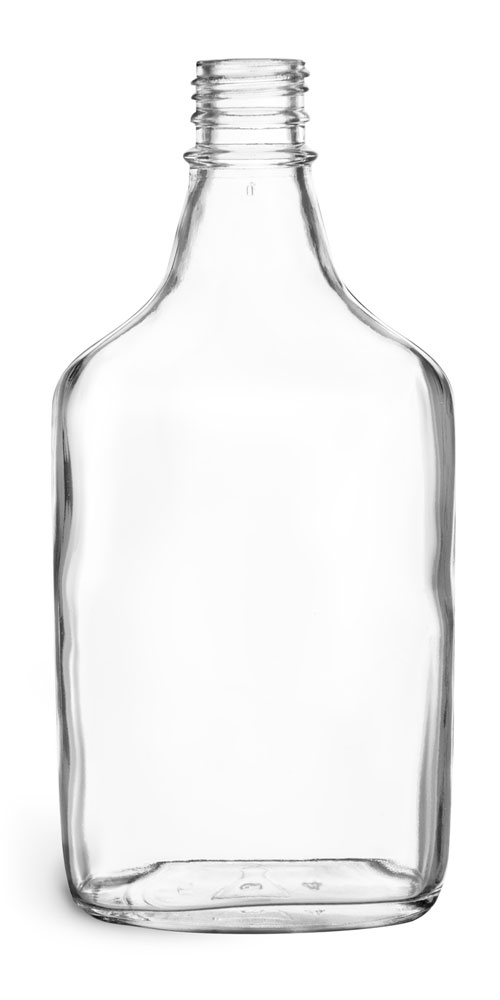 375 ml Clear Glass Flask Bottles