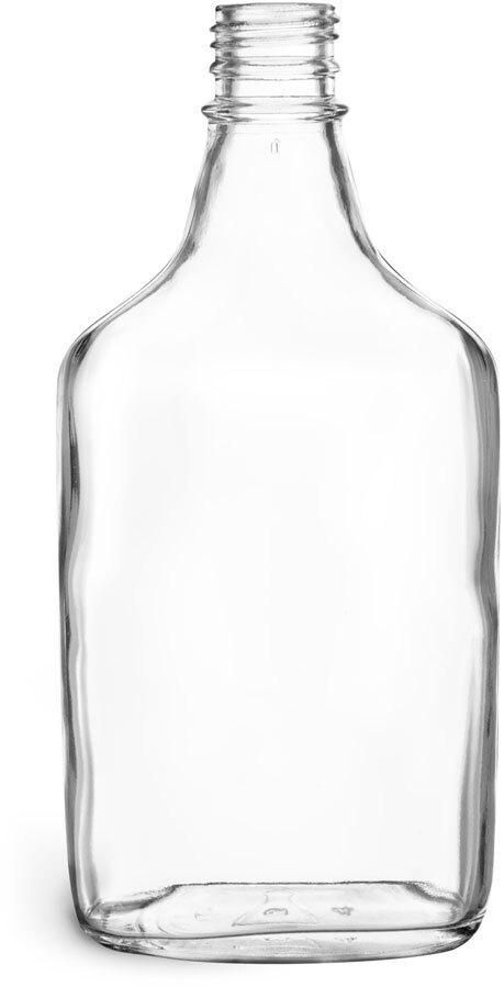 Clear Glass Flask Bottles