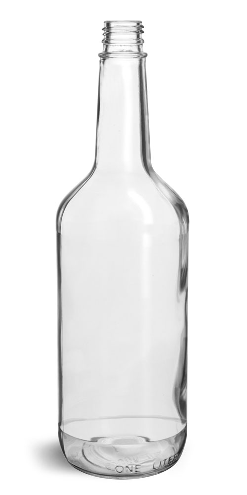 Glass Bottles, Clear Glass Liquor Bottles