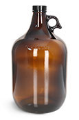 1 gal 1 gal Glass Amber Growlers