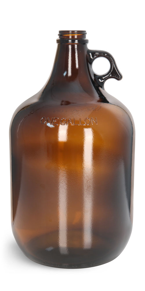 1 gal Glass Amber Growlers